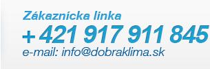 Tel: + 421 987 568 942, e-mail: info@dobraklima.sk