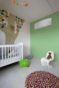 Inteligentné oko zaručí, že vzduch nebude fúkať na vaše dieťa. Foto: Daikin