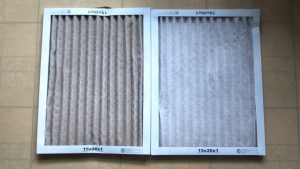 špinavý filter v klimatizácii